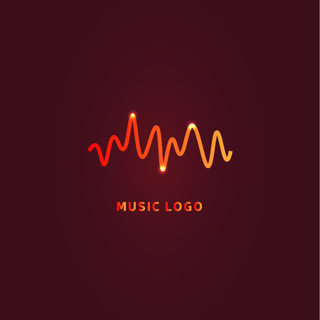 Colorful ui ux music equalizer sound waves. Audio electronic bar. Music waves logo. Dj vector illustration. Bright shiny light audio signal. 写真素材