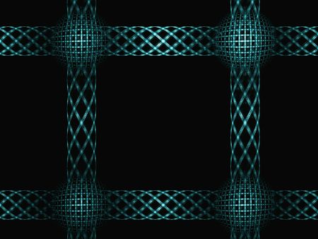 squire: Squire frame made of fractal lines. Rendered image