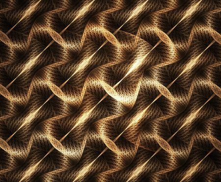 interweaving: Digital generated tiling, looks as interweaving of golden threads
