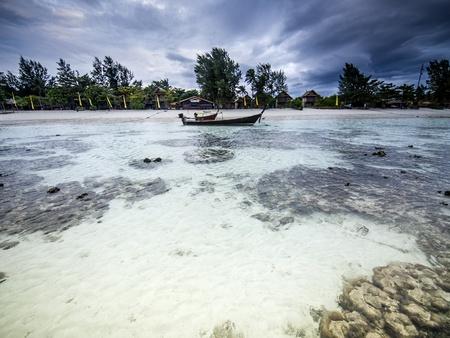 Stormy landscape  Ebb on the Koh Lipe island  Thailand photo