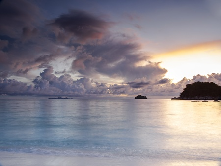 Majestic sunrise on a tropical island Koh Lipe in Thailand photo