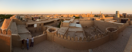 Panoramic view of the Khiva Town. Uzbekistan