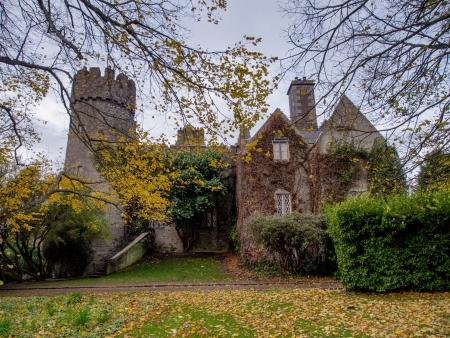 norman castle: Malahide Castle in Ireland. Stock Photo