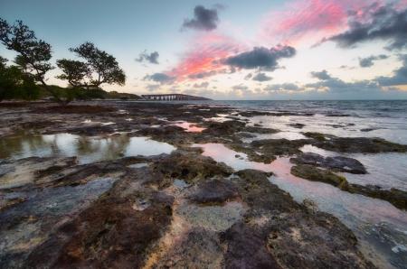 key west: Low tide at the Florida Keys Islands.
