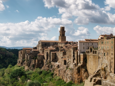 Medieval Pitigliano town in Italy. photo