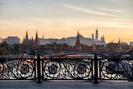 early morning view if the heart of Russia - Moscow Kremlin, Russia. photo