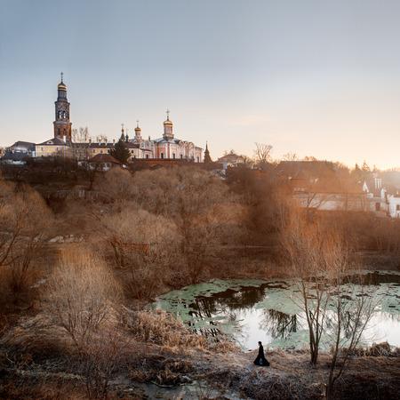 theologian: Ancient monastery near Ruazan town in Russia.
