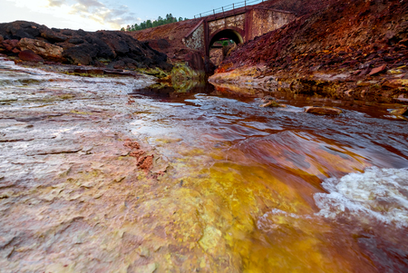 oxide: Rio Tinto - river with red water because it have a lot of iron oxide. Spain.