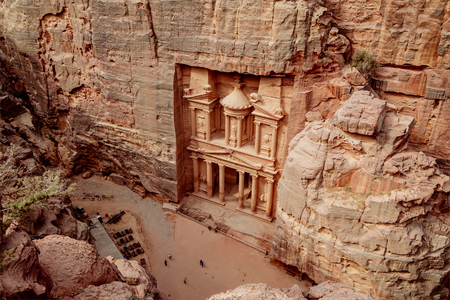 khazneh: Al Khazneh - the main sign of ancient site of Petra. Jordan.