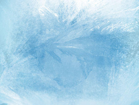 ice water: Ice on a window, background Stock Photo