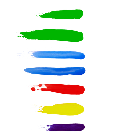 Brushstrokes of different colors