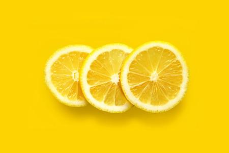 Three pieces of juicy lemon Reklamní fotografie