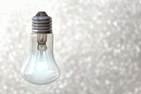 Light bulb on gray