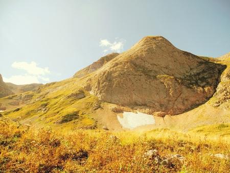 Landscape of rocky mountai