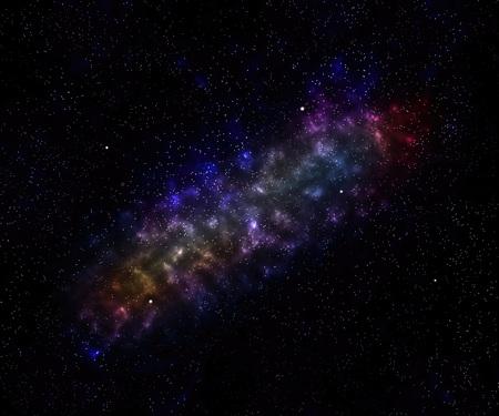 Beautiful nebula background Stock Photo