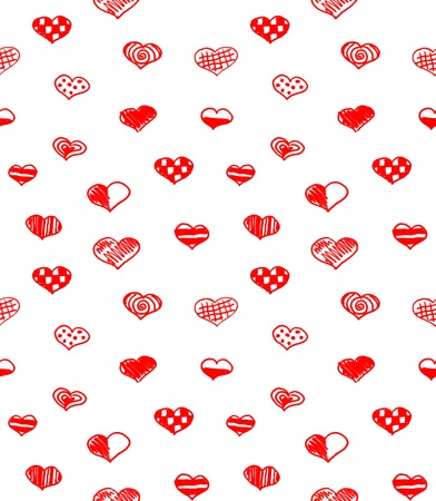 hand-drawn card happy valentines day greeting, seamless background