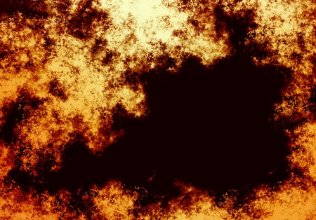 Fire flame on a black background