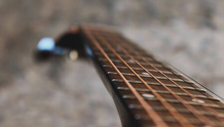 Acoustic guitar close up 免版税图像