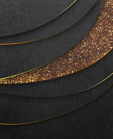 Gold luxury background, sparkling layers