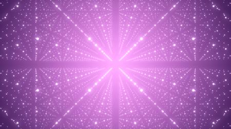 Universum abstrakte unendliche Raumillustration. Futuristischer Sternenstaub. 3D-Rendering.