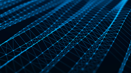 Abstract technology background. Network connection structure. Big data digital background. 3d rendering. Banque d'images