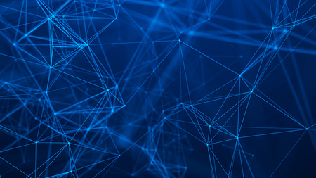 Network connection structure. Abstract technology background. Futuristic background. Big data digital background. 3d rendering.