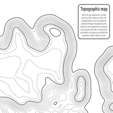 Hintergrund der topografischen Karte. Rasterkarte. Kontur. Vektor-Illustration.