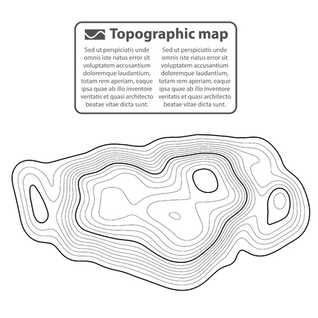 Topographic map background. Grid map. Contour. Vector illustration. Ilustração