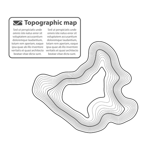 Topographic map background. Grid map. Contour. Vector illustration. Ilustração