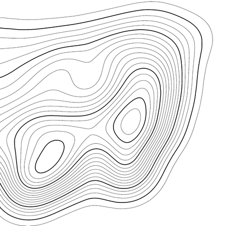 Topographic map background. Grid map. Vector illustration . Vetores