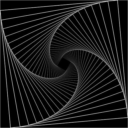 Résumé du tunnel. Lignes tordues. Logo. Tunnel de surface 3D filaire. Logo