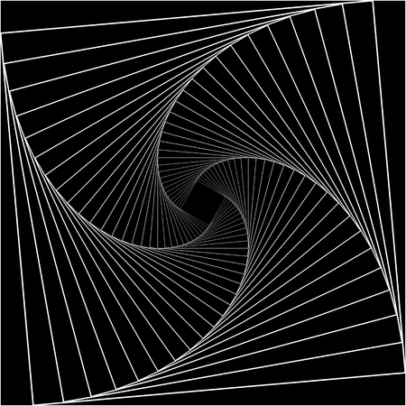 Tunnel abstract. Twisted lines. Logo. Wireframe 3D surface tunnel. Logo