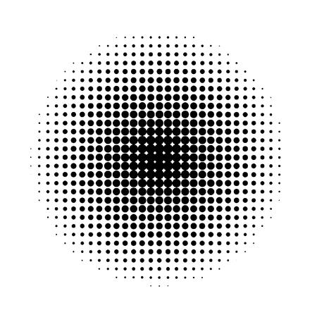 Halftone circles. Abstract halftone background. Black circles. Vecteurs