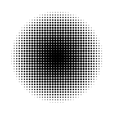 Halftone circles. Abstract halftone background. Black circles. Ilustração