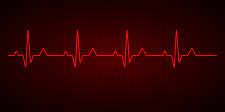 Heartbeat line. Cardiogram. Electrocardiogram. Vector illustration. Ilustración de vector