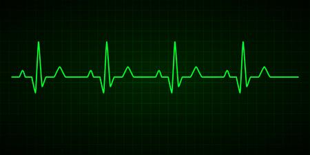Línea de latidos. Cardiograma. Electrocardiograma. Ilustración vectorial.