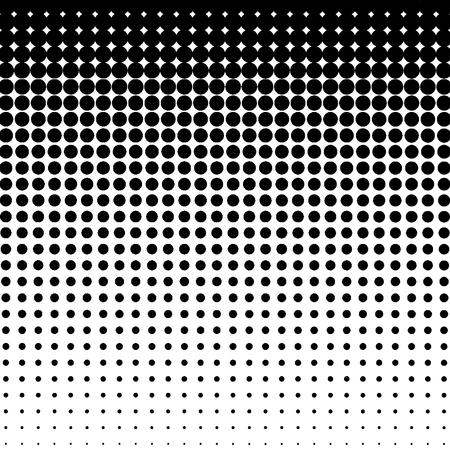 Wzór półtonów. Tło punktów półtonów gradientu. Ilustracja wektorowa.