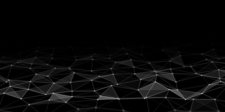 Abstract technology background with connecting dots and lines. Network concept. Data technology. Vektorové ilustrace