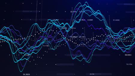股票市场图形投资图形概念