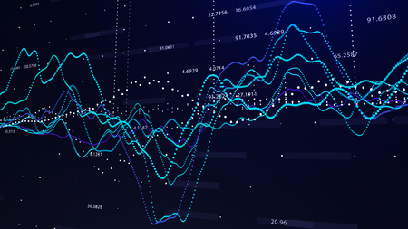 Stock market graph investment graph concept