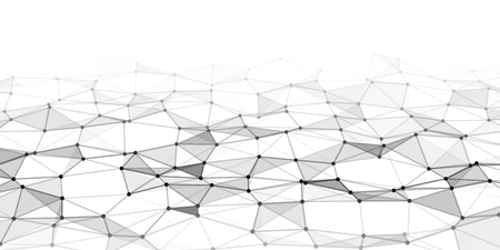 Abstract technology background with connecting dots and lines. Network concept. Data technology.