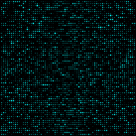Halftone pattern. Corrupted code. Glitch background. Computer Virus. Gradient design background. Particle virus. Vector Illustration.