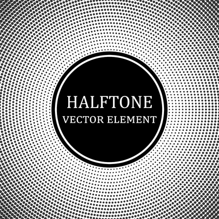 Circle halftone. Abstract halftone background. Vector illustration. Black circles. Çizim