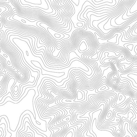 Fond de carte topographique. Carte quadrillée. Contour. Illustration vectorielle.