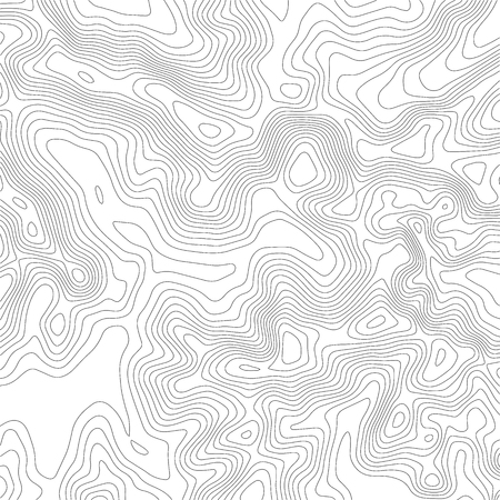 Topographic map background. Grid map. Contour. Vector illustration. Illustration