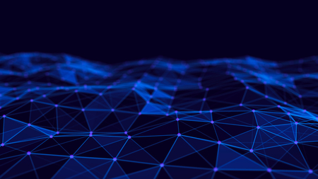 Abstract technology background. Network connection structure. Science background. Big data digital background. 3d rendering.