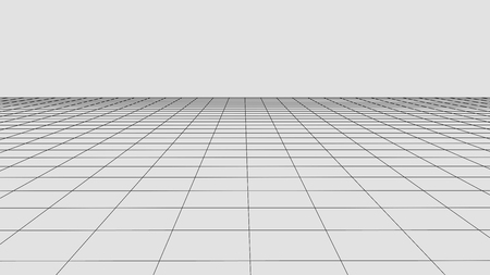 Perspective grid background. Abstract vector wireframe landscape. Abstract mesh background.