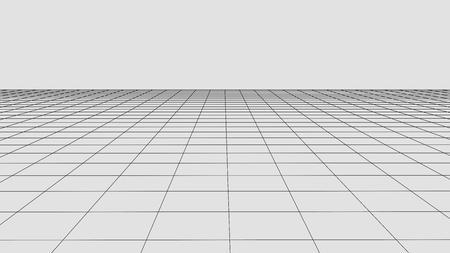 Perspektive Rasterhintergrund. Abstrakte Vektor-Drahtmodell-Landschaft. Abstrakter Mesh-Hintergrund.