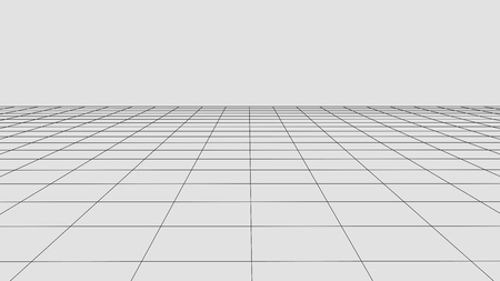 Perspective grid background. Abstract vector wireframe landscape. Abstract mesh background. Vetores