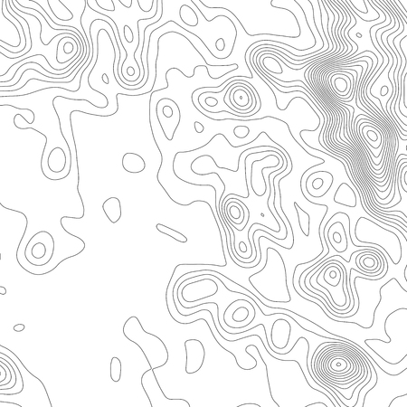 Topography map background. Grid map. Vector illustration Ilustração